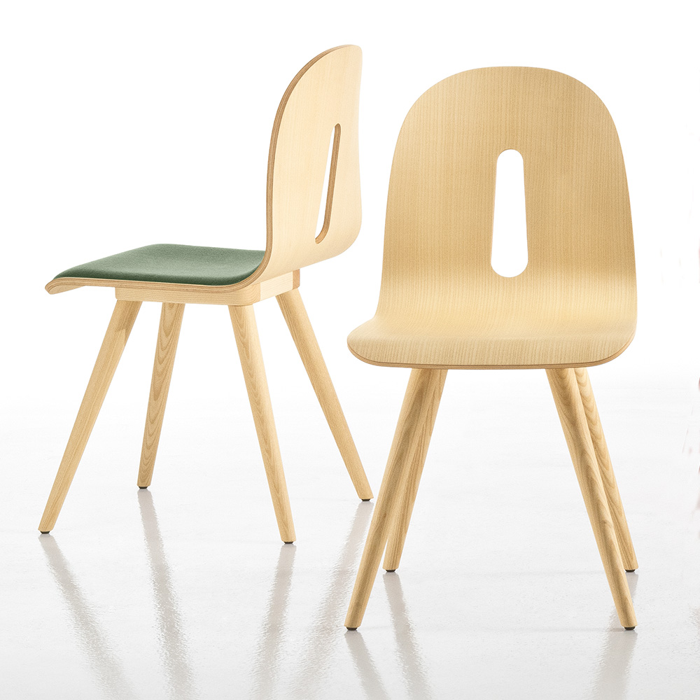 Jane Hamley Wells GOTHAMWOODY_S S I Modern Guest Seating Upholstered Molded  Wood Chair Seat On Wood Legs