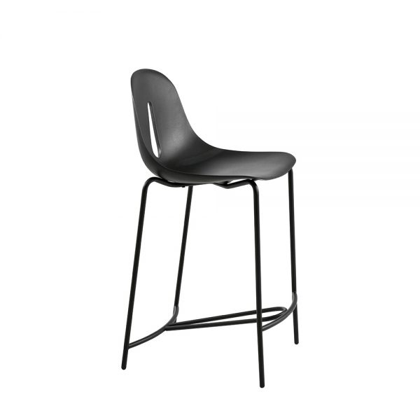 Jane Hamley Wells GOTHAM_Poly_SG65_A modern counter stool polyurethane seat on chrome or steel legs