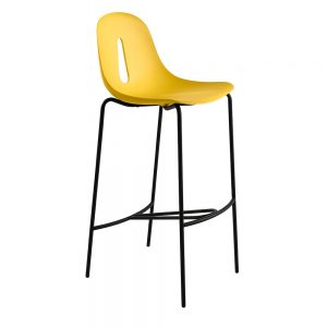 Jane Hamley Wells GOTHAM_Poly_SG80_A modern restaurant bar stool polyurethane seat on chrome or steel legs
