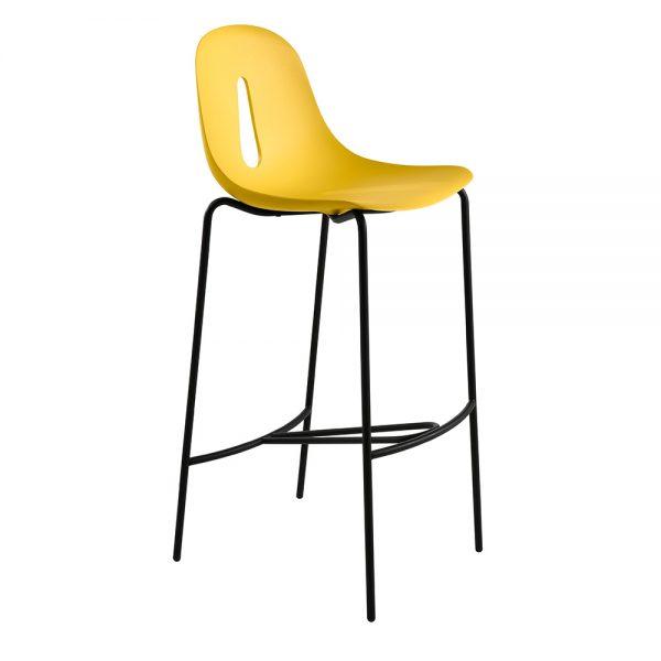 Jane Hamley Wells GOTHAM_Poly_SG80_A modern restaurant bar stool polyurethane seat on chrome or steel legs