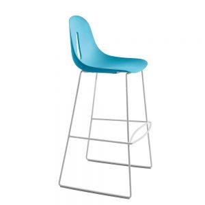 Jane Hamley Wells GOTHAM_SL_SG-80_A modern restaurant bar stool polyurethane seat on chrome or sled base