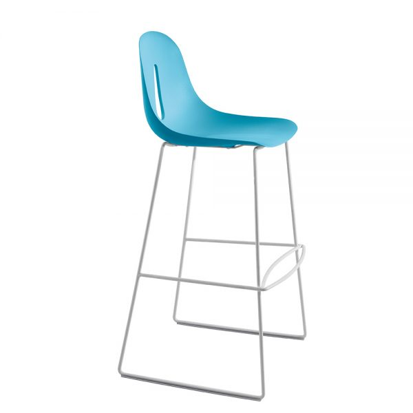 Jane Hamley Wells GOTHAM_SL_SG-80_A modern restaurant bar stool polyurethane seat on chrome or sled base