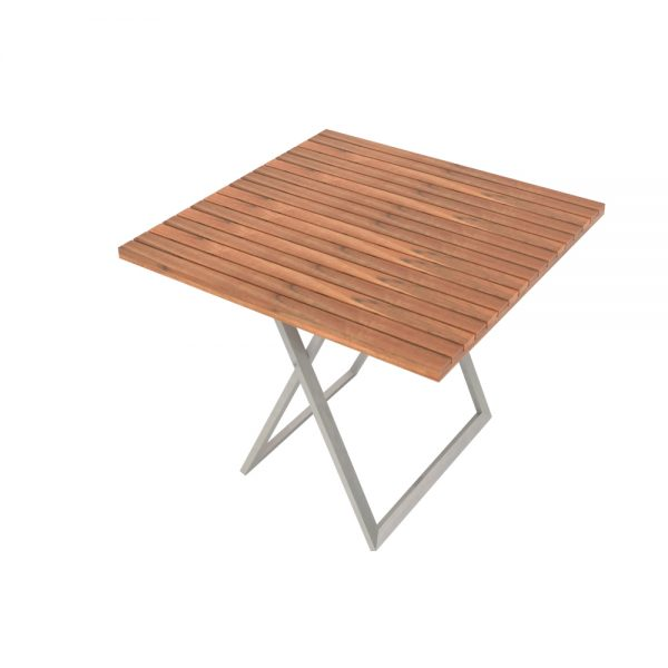 Jane Hamley Wells JAZZ_JZ8101_B modern outdoor square folding dining table teak stainless steel
