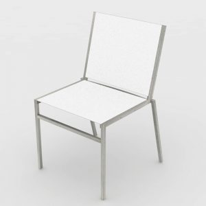 Jane Hamley Wells JAZZ_JZ9101-T_A modern outdoor stacking dining chair mesh seat and stainless steel