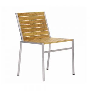 Jane Hamley Wells JAZZ_JZ9101_A modern outdoor stacking dining chair teak and stainless steel