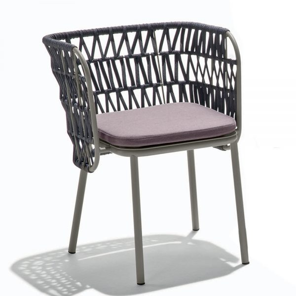 Jane Hamley Wells JULENE_JUJSP_INT_A contemporary indoor outdoor dining armchair nautical rope back with seat cushion