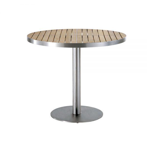 Jane Hamley Wells KURF_8702 luxury modern outdoor round dining table teak stainless steel.jpg