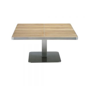 Jane Hamley Wells KURF_8703 luxury modern outdoor square coffee table teak stainless steel