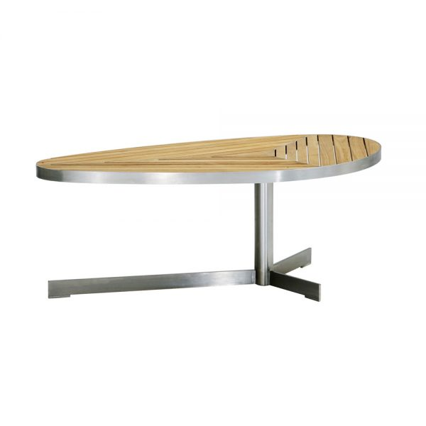 Jane Hamley Wells KURF_8706 luxury modern outdoor D-fly coffee table teak stainless steel