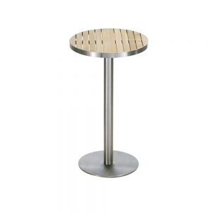 Jane Hamley Wells KURF_8709 luxury modern outdoor round bar table teak stainless steel
