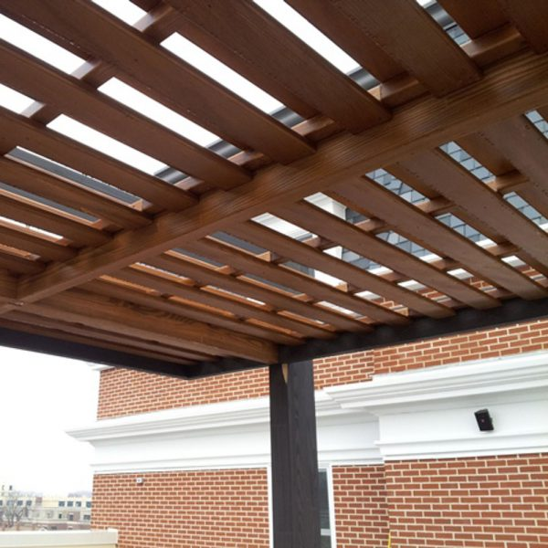 Jane Hamley Wells LARIA_RoofDetail_1 outdoor shade structure arbor trellis Glulam treated wood