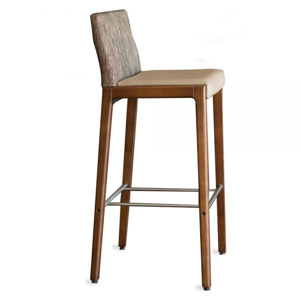 Jane Hamley Wells LOLA_10-139_A modern upholstered restaurant bar stool oak wood