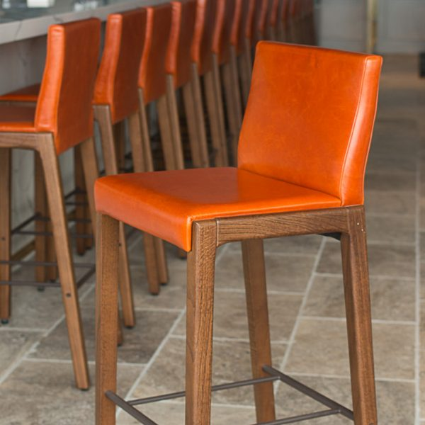 Jane Hamley Wells LOLA_10-139_B modern upholstered restaurant bar stool oak wood