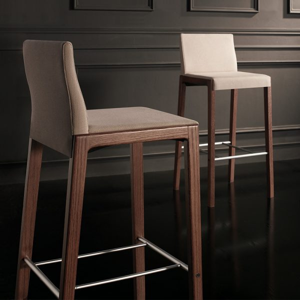Jane Hamley Wells LOLA_10-139_C modern upholstered restaurant bar stool oak wood