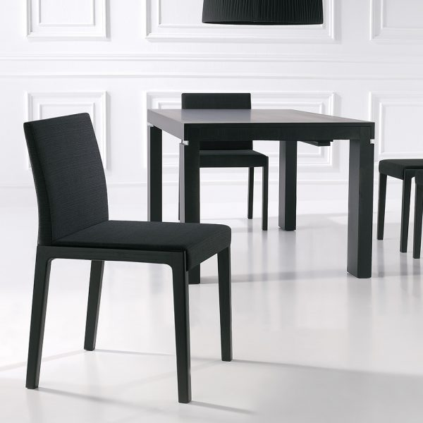 Jane Hamley Wells LOLA_2-134_A contemporary restaurant dining armchair upholstered seat and back wood arms and legs