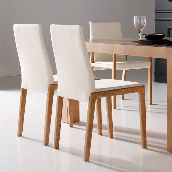 Jane Hamley Wells LOLA_2-136_C??? contemporary dining armchair upholstered high back and seat wood arms and legs