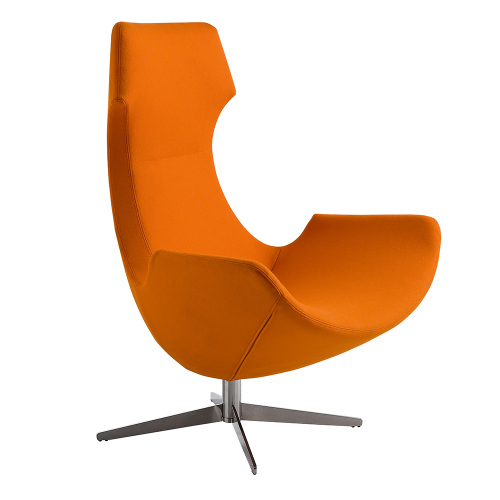 Lullaby 3 Lounge Armchair Cross Base Jane Hamley Wells