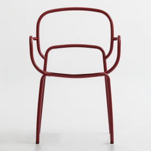 Jane Hamley Wells MOYO_A stacking indoor outdoor café dining armchair powder-coated steel