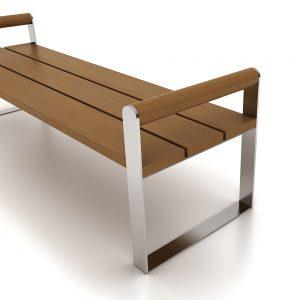 Jane Hamley Wells NEWYORK_DSC1020204_B modern commercial urban park bench with backless hardwood seat steel frame