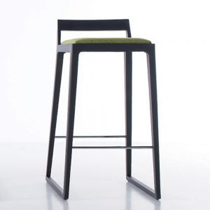 Jane Hamley Wells NORD_10-169_10-176_A modern restaurant bar stool upholstered seat on beech or oak wood