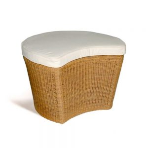 Jane Hamley Wells PLUMO_DJBBCP01_A modern indoor outdoor ottoman all-weather wicker with upholstered seat cushion