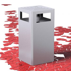 Jane Hamley Wells PRISMA_PAC1113704 commercial outdoor litter bin waste receptacle recycling painted steel and stainless steel