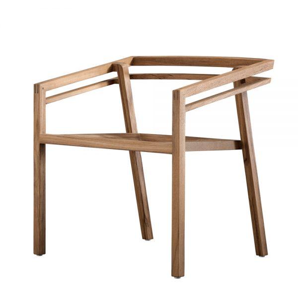 Jane Hamley Wells SATURNO_ST9101_A modern outdoor dining armchair teak