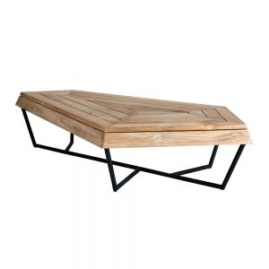 Jane Hamley Wells SELF_SF8551_A modern large indoor outdoor coffee table bench teak powder-coated stainless steel