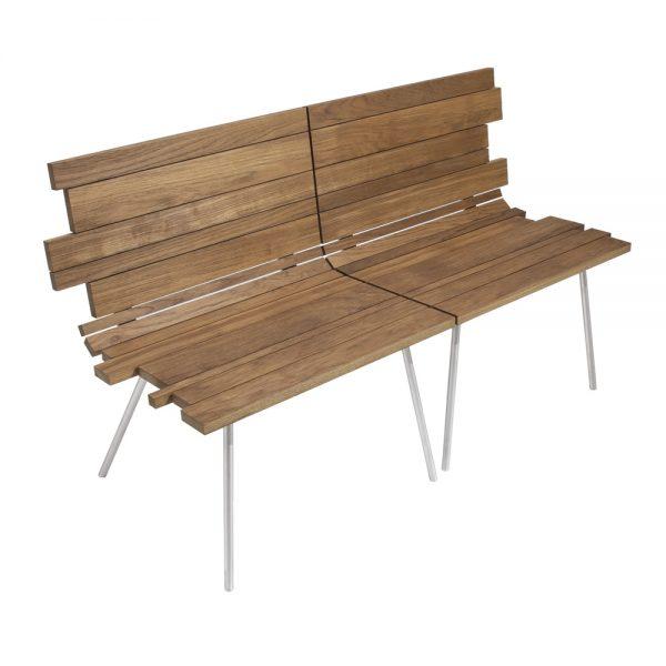 Jane Hamley Wells SPLINTER_SP0701_C modern indoor outdoor set of two interlocking chair bench teak stainless steel