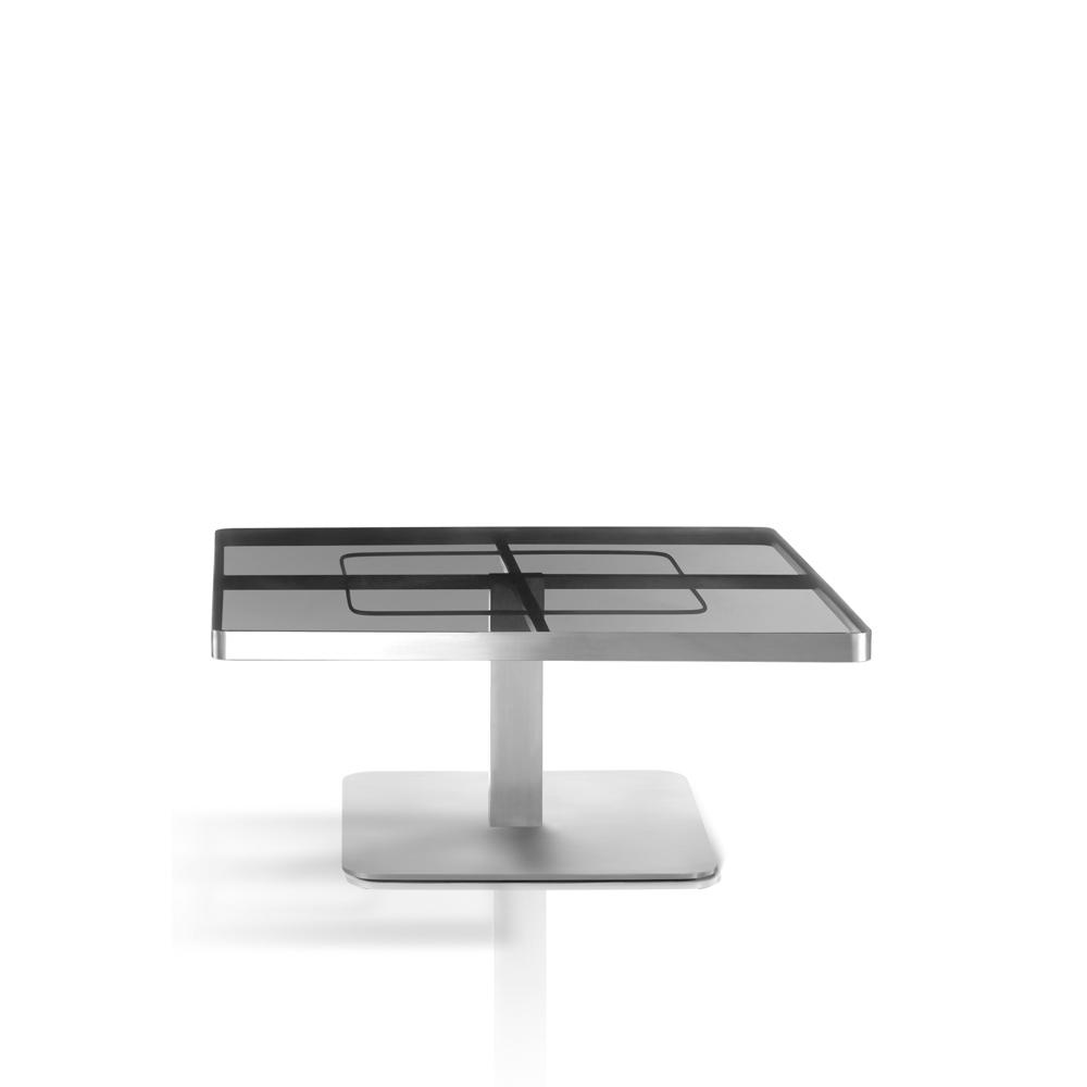 Square Coffee Table Tempered Glass: SUNGLASS Coffee Table, Square