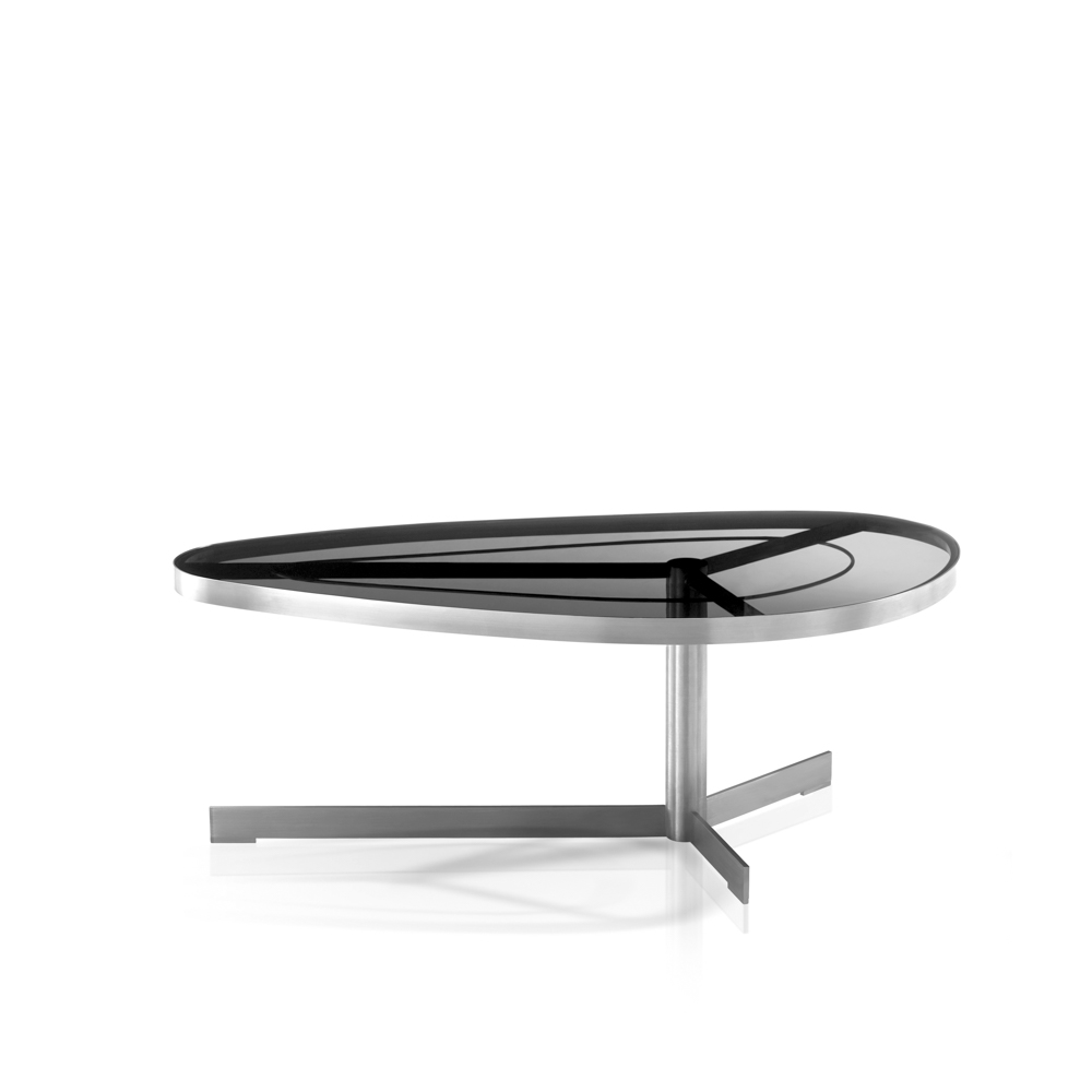 Jane Hamley Wells SUNGLASS_SU8806_A Modern Indoor Outdoor D Fly Coffee  Table Tempered Glass Top Stainless