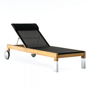Jane Hamley Wells TAJI_TJ7002_A modern outdoor sunbed lounger adjustable headrest with wheels