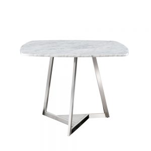 Jane Hamley Wells TRIZ_8201_A luxury modern square dining table stone top stainless steel legs