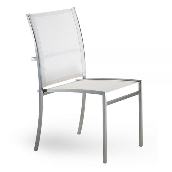 Jane Hamley Wells TT_TT9202_B modern outdoor stacking dining armchair mesh seat stainless steel frame