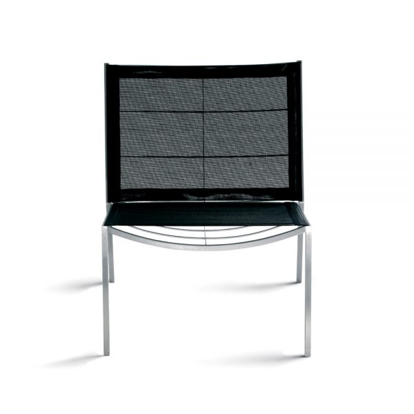 Jane Hamley Wells TT_TT9302_A modern indoor outdoor stacking lounge chair mesh seat and back stainless steel frame