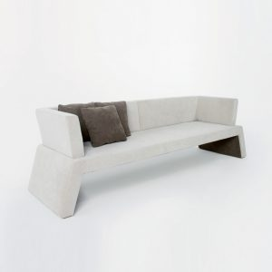 Jane Hamley Wells URBAN_006-001_A 3-Person modern indoor upholstered sofa bench