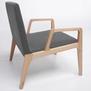 Jane Hamley Wells VIK_41-210_A modern upholstered lounge chair oak wood legs