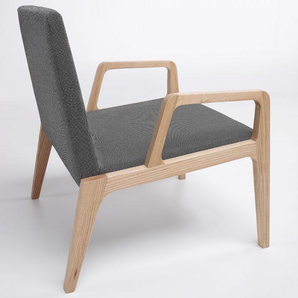 Jane Hamley Wells VIK_41-210_A modern upholstered lounge chair oak wood legs