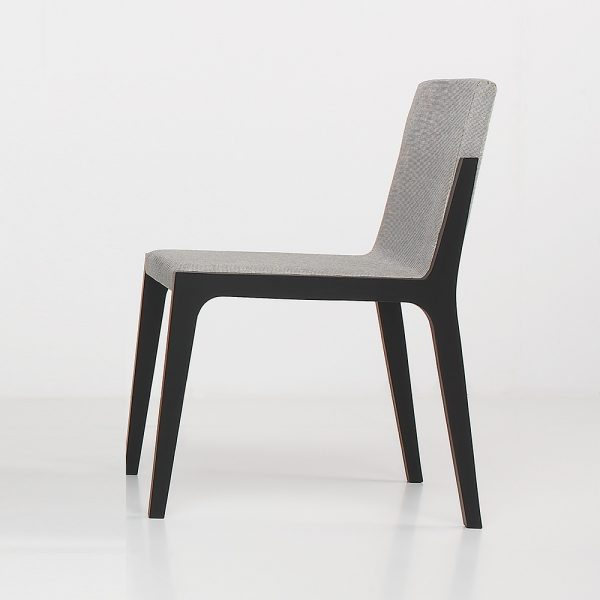 Jane Hamley Wells VIK_2-206_A modern restaurant side guest chair upholstered seat and back on oak wood frame